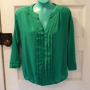 Cynthia Rowley green small shirt